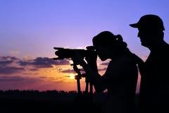 fotografsilhouette Fotografering för Bildbyråer