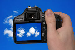 Fotographia del cielo fotografia stock