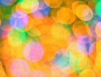 Fotographia multi-colored astratta del bokeh Immagini Stock