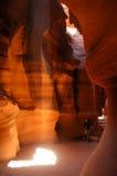Fotographia in un canyon della scanalatura Immagine Stock