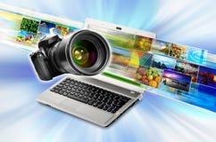 Fotographie &Media Technologie vektor abbildung