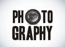 Fotographie mit Kameraobjektiv stock abbildung