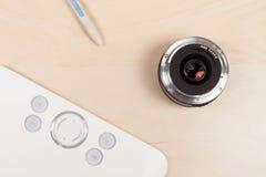 Fotographienpfostenproduktion mit grafischer Tablette Lizenzfreie Stockfotos