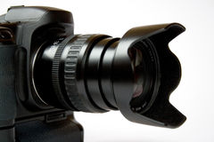 Fotographisch, telelens, digital, Fokus, Kamera, Lizenzfreie Stockfotos