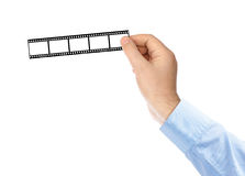 Fotographischer Film in den Händen Lizenzfreie Stockfotografie