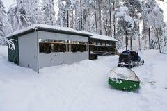 Fotohut, Kuusamo, Finnland; Photohide, Kuusamo, Finnland stockfoto