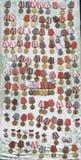 Fotoikonen-Jubiläummedaillen und Preise der Sowjetunions und des Russlands, die Arbeitskräfte und Militär zusprachen Stockbilder