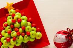 Fotojulgran från ny frukt som isoleras Royaltyfri Foto