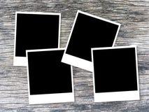 Fotokaart op houten lijst royalty-vrije stock fotografie
