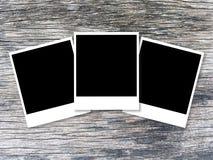 Fotokaart op houten lijst royalty-vrije stock afbeelding