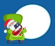Fotokader met Santa Claus Resting in Leunstoel stock illustratie