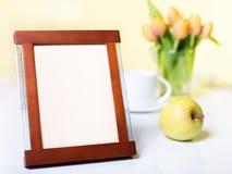 Fotokader op de lijst - placeholder Royalty-vrije Stock Afbeelding
