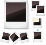 Fotokaders over wit worden geïsoleerd dat Stock Foto's