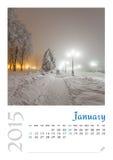 Fotokalender met minimalistisch landschap 2015 Royalty-vrije Stock Foto