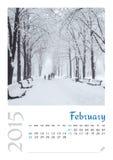 Fotokalender met minimalistisch landschap 2015 Royalty-vrije Stock Afbeeldingen