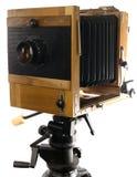 Fotokamera des großen Formats der Weinlese Stockbild