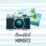 Fotokamera mit Feiertagsfotos lizenzfreie abbildung