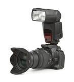 Fotokamera und -blinken Lizenzfreie Stockbilder