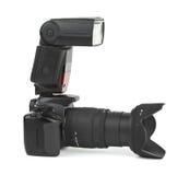 Fotokamera und -blinken Lizenzfreies Stockbild