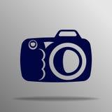 Fotokameratecken på en vit bakgrund Stock Illustrationer