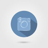 Fotokamerazeichen auf einem weißen Hintergrund Lizenzfreies Stockbild