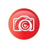 Fotokamerazeichen auf einem weißen Hintergrund Lizenzfreie Stockbilder
