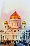 Fotokathedraal van Christus de Verlosser Royalty-vrije Stock Afbeeldingen