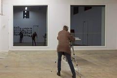 Fotokurs in der ehemaligen Molkerei, die Niederlande Stockbilder