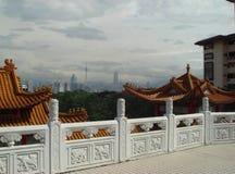 Fotolandschaft mit vagen Aussichten der modernen Hauptstadt von Malaysia lizenzfreie stockfotografie