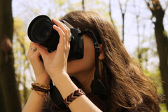 Fotomädchen Stockbild