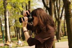 Fotomädchen Lizenzfreies Stockbild
