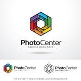 Fotomitt Logo Template Design Vector Arkivbild