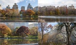 Fotomosaik mit Szenen vom Central Park, New York Stockfoto