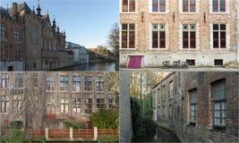 Fotomosaikcollage von Brügge, Belgien Lizenzfreies Stockbild