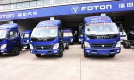 foton αποθήκη εμπορευμάτων ελαφριών truck Στοκ Εικόνες