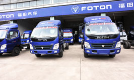 Foton light trucks warehouse Stock Images