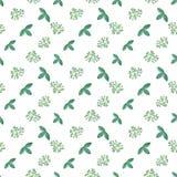 Fotopatroon met groene bladeren Stock Afbeelding