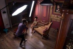 Fotoperiod av den stora modellen Fotografering för Bildbyråer