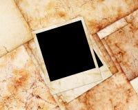 Fotoplättchen auf grunge Papier Stockfoto
