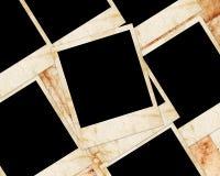 Fotoplättchen auf grunge Papier Lizenzfreie Stockfotografie