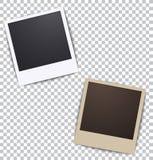 Fotorahmen auf Weiß ein Plaidhintergrund mit Schatten lizenzfreie abbildung