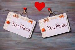 Fotorahmen für St.-Valentinsgruß ` s Tag Stockbild