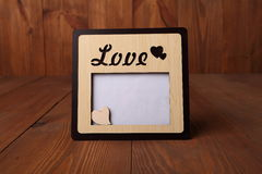 Fotorahmen mit dem Wort u. dem x22; love& x22; Stockfotos