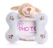 Fotorahmen mit Häschenspielzeug Lizenzfreies Stockbild