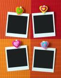 Fotorahmen mit Herzformklammer Stockfotos