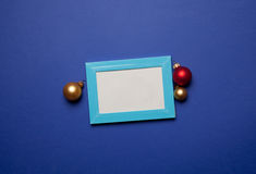 Fotorahmen- und -weihnachtsflitter Stockbilder