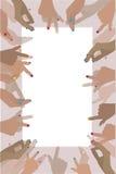 Fotoram med mänskliga händer illustration stock illustrationer
