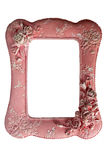 Fotoram på rosa prickbakgrund Royaltyfri Foto