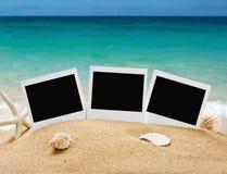 Fotoramar på havssanden Royaltyfri Fotografi