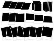 Fotoramar på vit bakgrund Stock Illustrationer